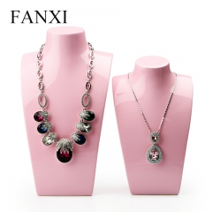 FANXI Chinese Wholesale Necklace Stand Bust Pink Lacquered R...