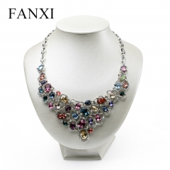 FANXI Luxury Custom Pendant Holder Beige Pearl Metallic Leat...