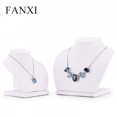 FANXI Wholesale mannequin Jewelry Stand Holder White PU Leat...
