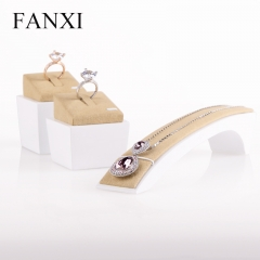 FANXI Custom Couple Ring Necklace Holder Luxury White Lacque...
