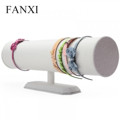 FANXI Wood T Bar Display Holder For Boutiques Beige Linen He...