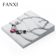 FANXI Made In China Fashion Gray Velvet Jewelry Display Hold...