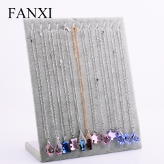 FANXI China Wholesale Custom Silver Gray Color Velvet Pendan...