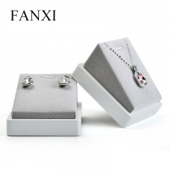 FANXI White Lacquer Jewellery Rack With Gray Velvet For Pend...