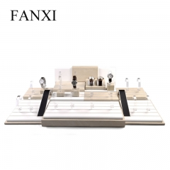 FANXI factory wholesale custom logo watch stand display cabi...