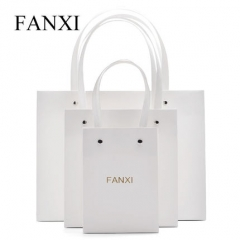 FANXI factory custom cheap kraft handle paper bag with logo ...