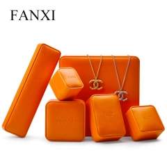 FANXI factory custom leather jewelry packaging box with logo