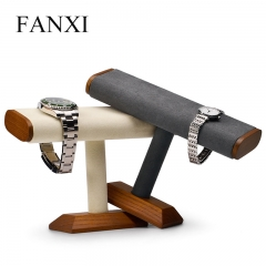 FANXI factory custom wooden bracelet banlge jewerly display ...
