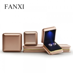 FANXI factory custom led jewelry packaging box with logo