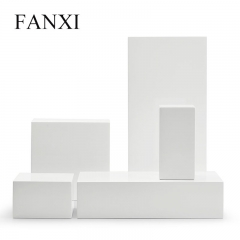FANXI factory custom logo wood jewellery display stand set