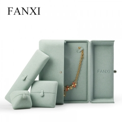 FANXI factory custom logo microfiber jewellery packaging box