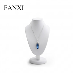 FANXI factory custom logo black necklace display bust stands