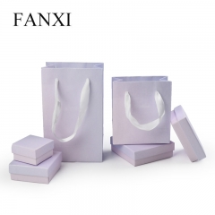 FANXI factory custom logo paper jewelry packaging box with b...