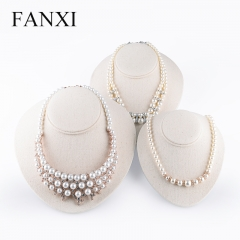FANXI factory custom logo jewelry necklace display stand bus...