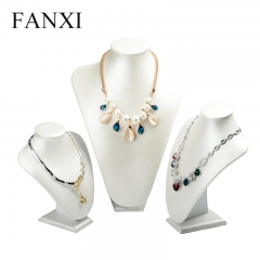 FANXI factory custom logo jewelry leather necklace display s...