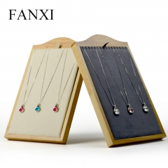 FANXI factory custom logo wooden necklace display stand rack