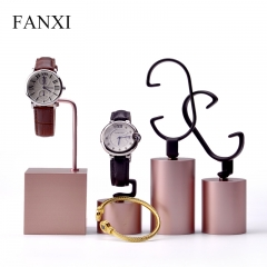 luxury metal watch display stand holder
