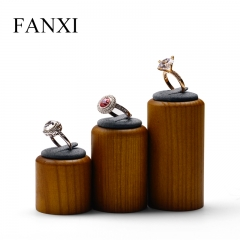 wooden jewelry finger ring display stand