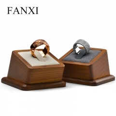 luxury wooden ring display stand