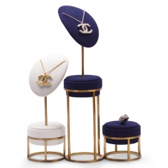 luxury metal jewelry display stand set