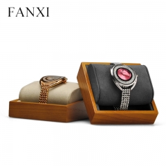 Wooden wrist watch display stand bangle holder