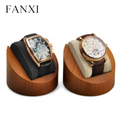 wooden wrist watch holder display stand