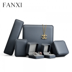 wholesale luxury leather jewelry boxes for ring earring pend...
