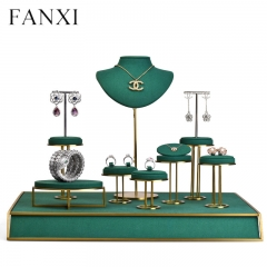 luxury window metal jewellery display stand props for ring e...