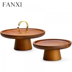 Wooden jewelry display stand holder for bangle ring earring ...