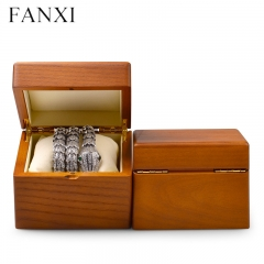Wooden jewelry packing display box for bangle bracelet watch