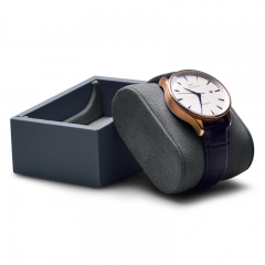 Leather microfiber gray jewelry display exhibitor for watch bangle bracelet