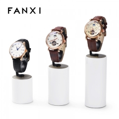 White colour wrist watch display stand set