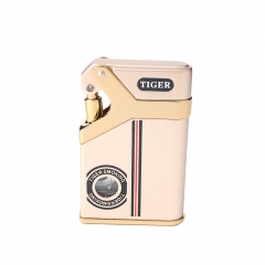Tiger Lighter Usb Zinc Alloy Gas Lighterv
