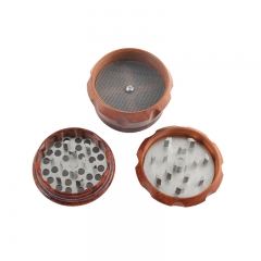 Wood grain herb grinder