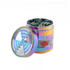colorful Metal Zinc alloy Tobacco herb grinder