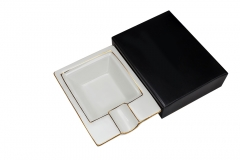 Square ceramic cigar ashtray