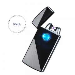 Anti - wind frosted arc cigarette lighter