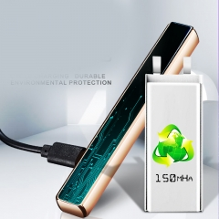 Cigarette lighter with charging slide