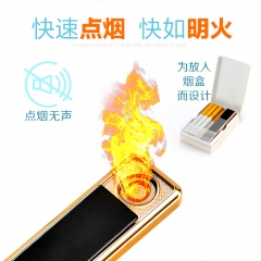 Slide cover silent lighter