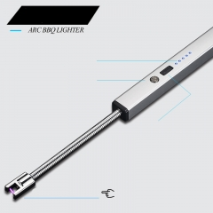 Ultra-long wind-proof arc lighter