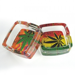 Custom glass ashtray