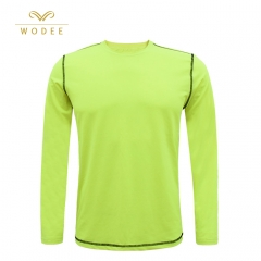 Men's fitness T-shirt fluorescence color