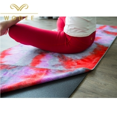 Wholesale fashion dye-die yoga mat no slip