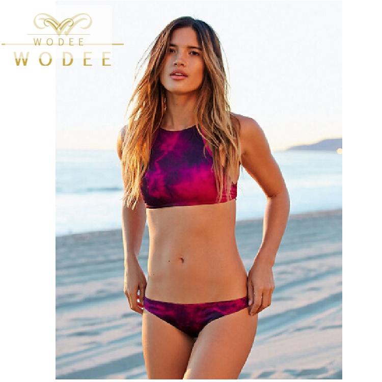 be66cfc383f8 Alta calidad tie-dye sexi bikini establece traje de baño de las ...