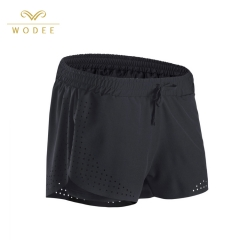 Quick Dry Running Shorts Frauen hohe Taille Fitness Yoga Shorts individuelles Logo