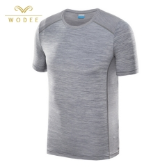 High quality short sleeve t shirt men quick dry running sport t shirt made in China