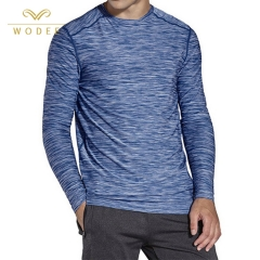 Online shipping new designs athletic wear men long sleeve gym t shirt wholesale china