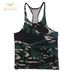 Wholesale sports tops printed gym stringer tank top bodybuilding men