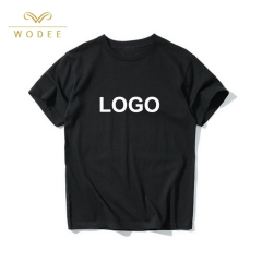 Custom logo 230gsm blank t-shirt unisex 100% cotton t shirt for women men