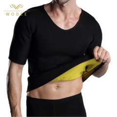 Short sleeve sweat hot slim neoprene body shaper workout waist trainer men